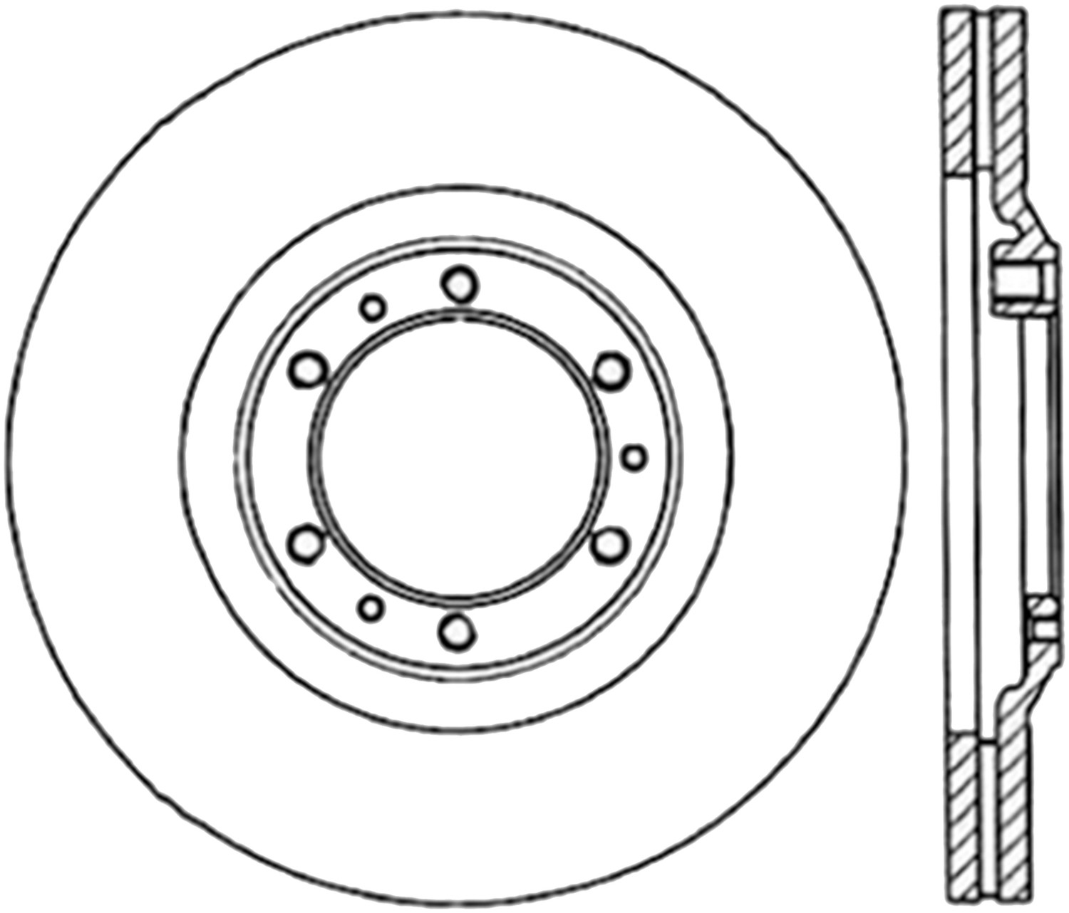 STOPTECH - StopTech Sport Drilled Disc (Front Right) - SOH 128.43013R