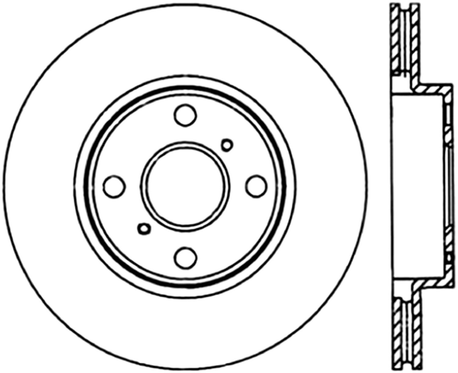 STOPTECH - StopTech Sport Cross-Drilled Disc Brake Rotors - SOH 128.44119R