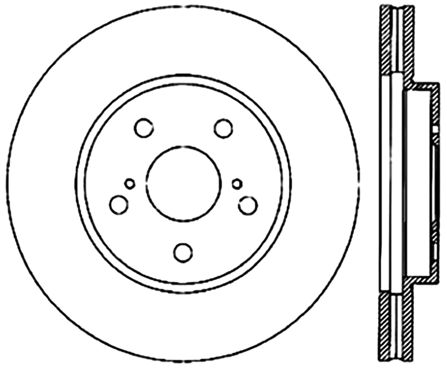 STOPTECH - StopTech Sport Cross-Drilled Disc Brake Rotors - SOH 128.44125R