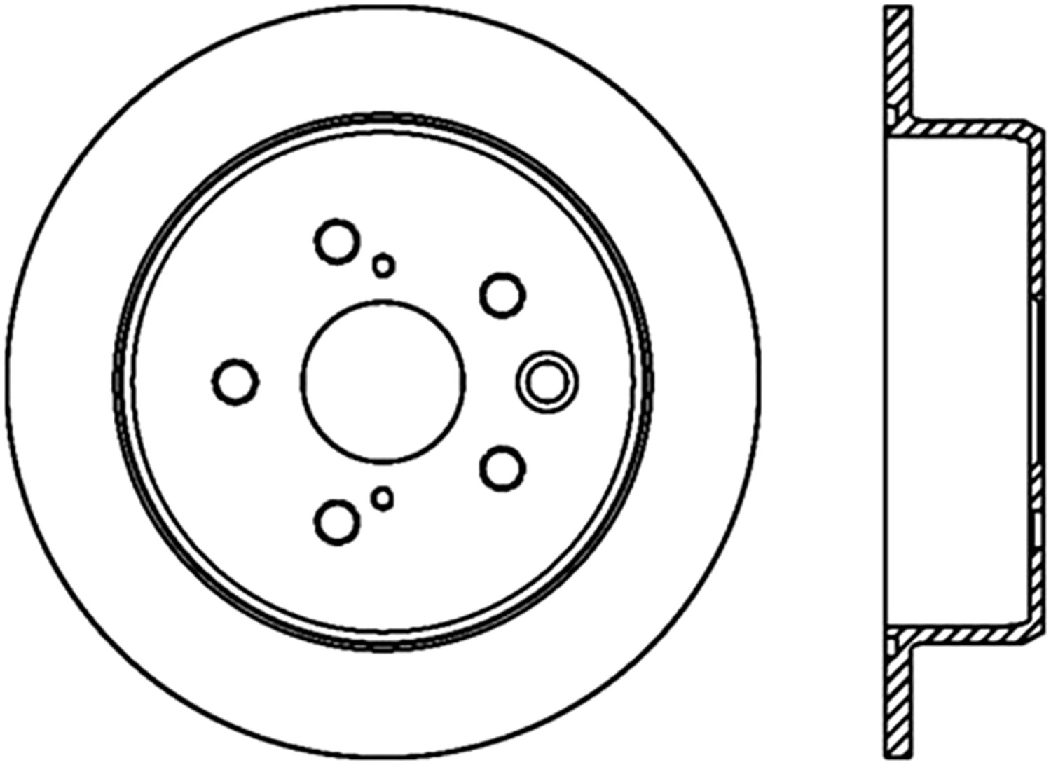 STOPTECH - StopTech Sport Cross-Drilled Disc Brake Rotors - SOH 128.44142L