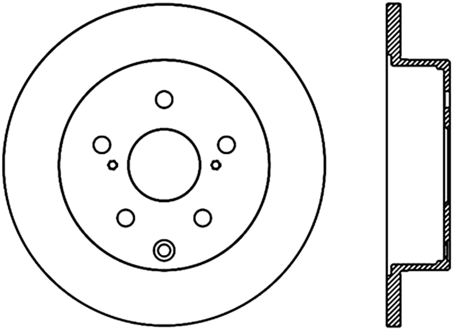 STOPTECH - StopTech Sport Cross-Drilled Disc Brake Rotors - SOH 128.44145R