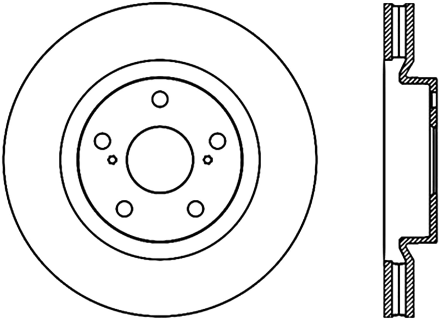 STOPTECH - StopTech Sport Drilled Disc (Front Left) - SOH 128.44146L