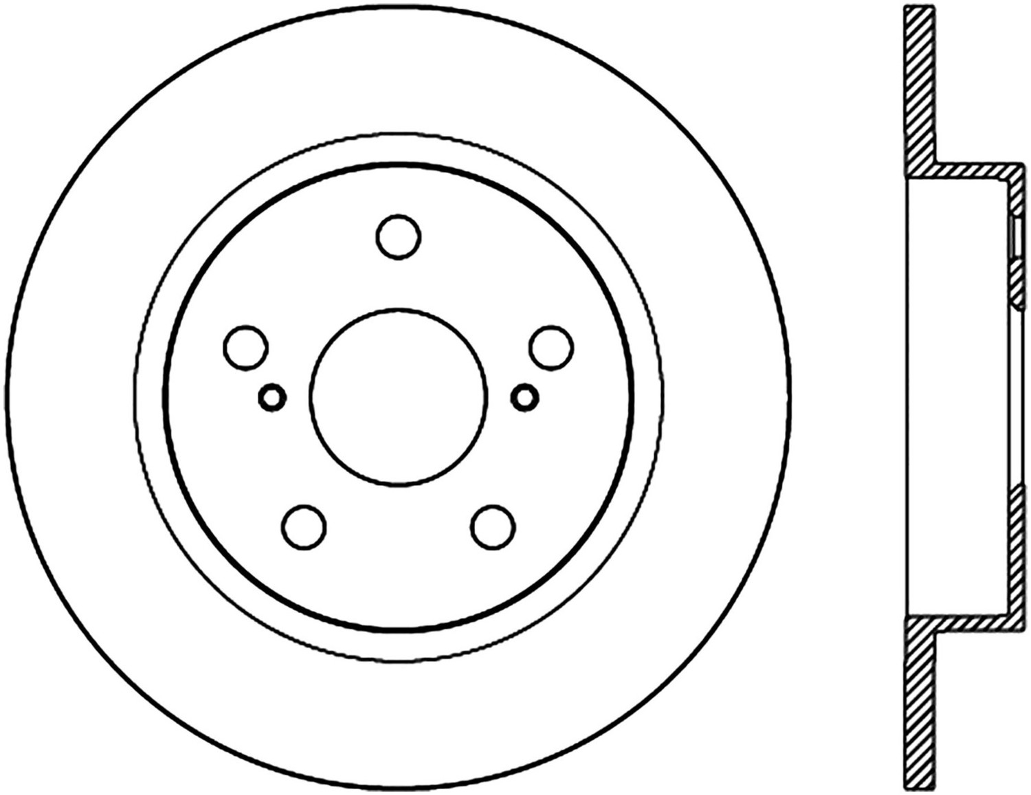 STOPTECH - StopTech Sport Cross-Drilled Disc Brake Rotors - SOH 128.44179R