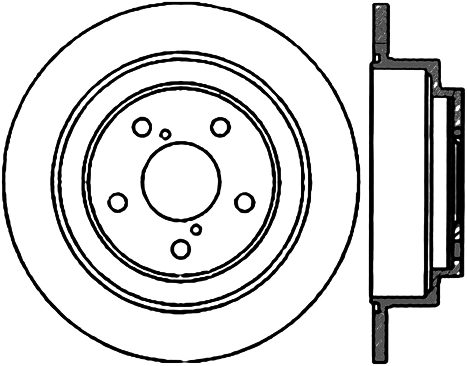 STOPTECH - StopTech Sport Cross-Drilled Disc Brake Rotors - SOH 128.47011R