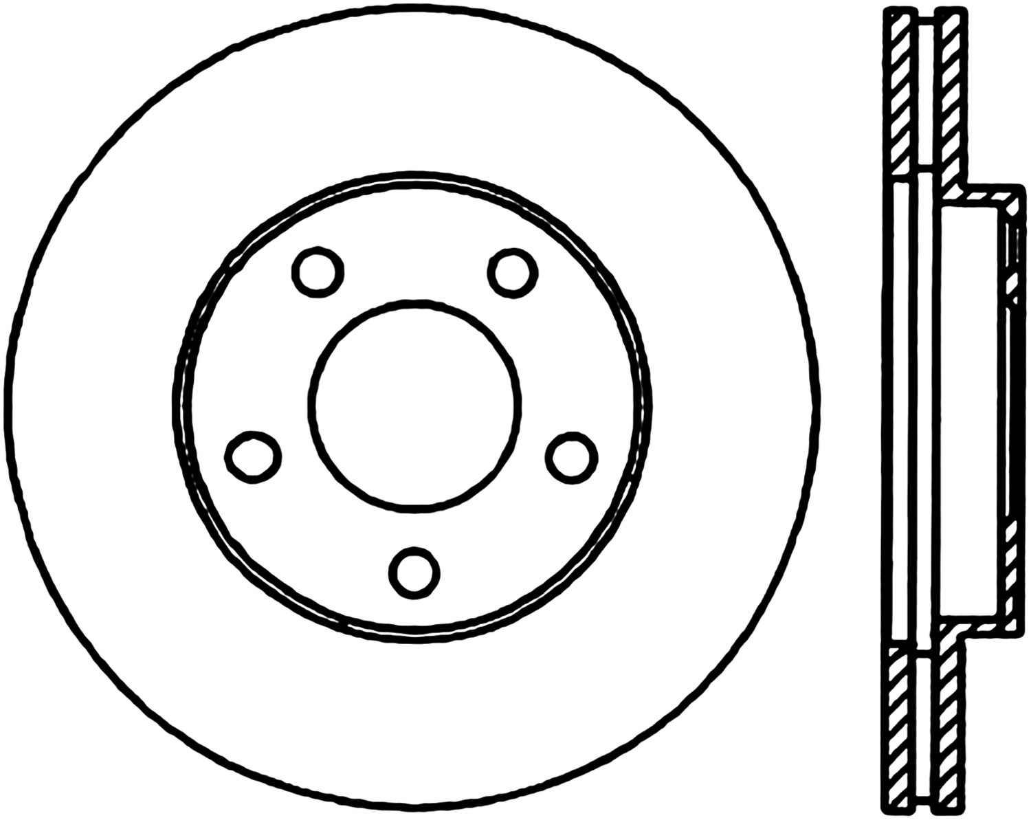 STOPTECH - StopTech Sport Cross-Drilled Disc Brake Rotors - SOH 128.61041L
