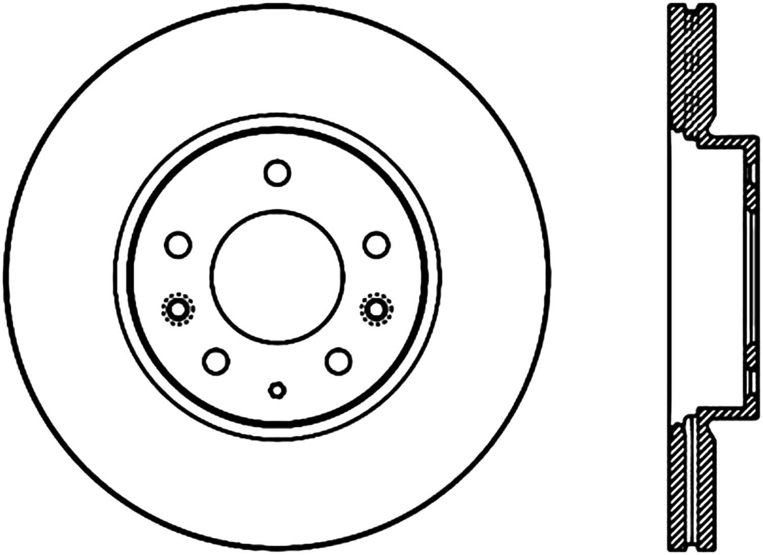 STOPTECH - StopTech Sport Drilled Disc (Front Left) - SOH 128.61088L