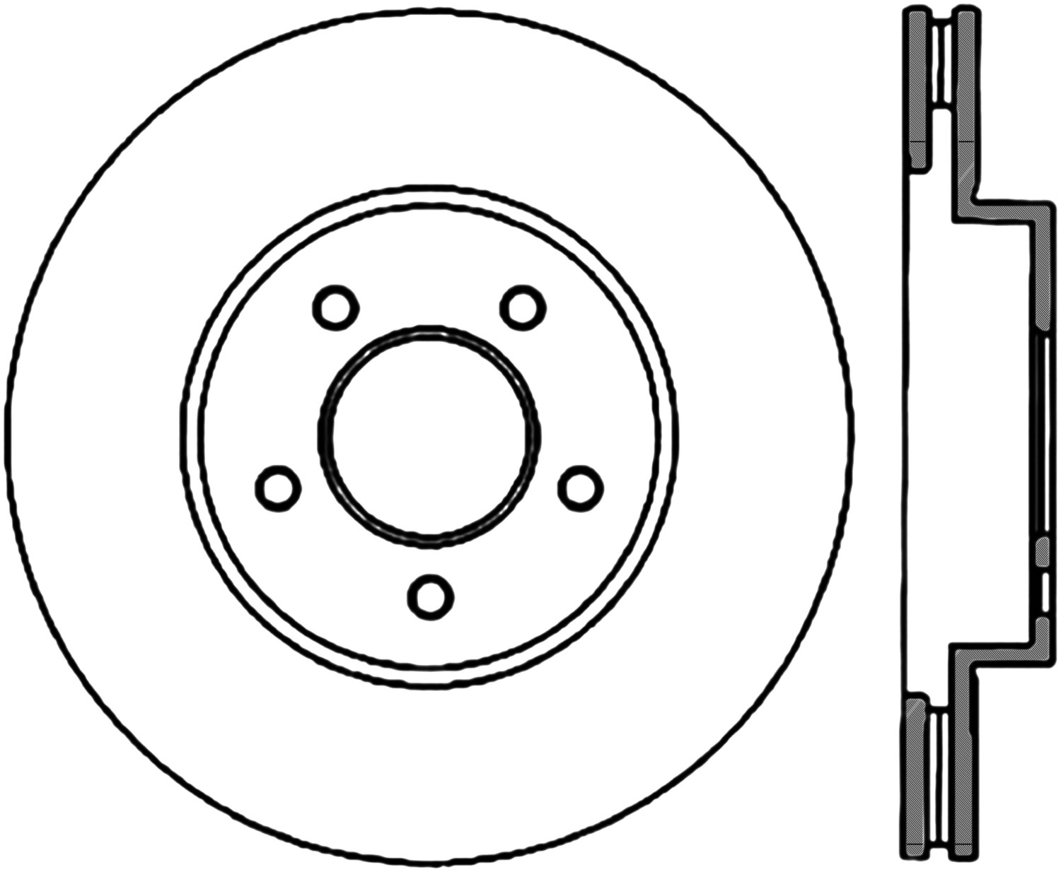 STOPTECH - StopTech Sport Drilled Disc (Front Right) - SOH 128.65107R