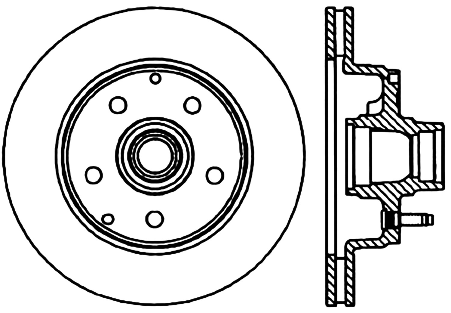 STOPTECH - StopTech Sport Drilled Disc (Front Right) - SOH 128.66016R