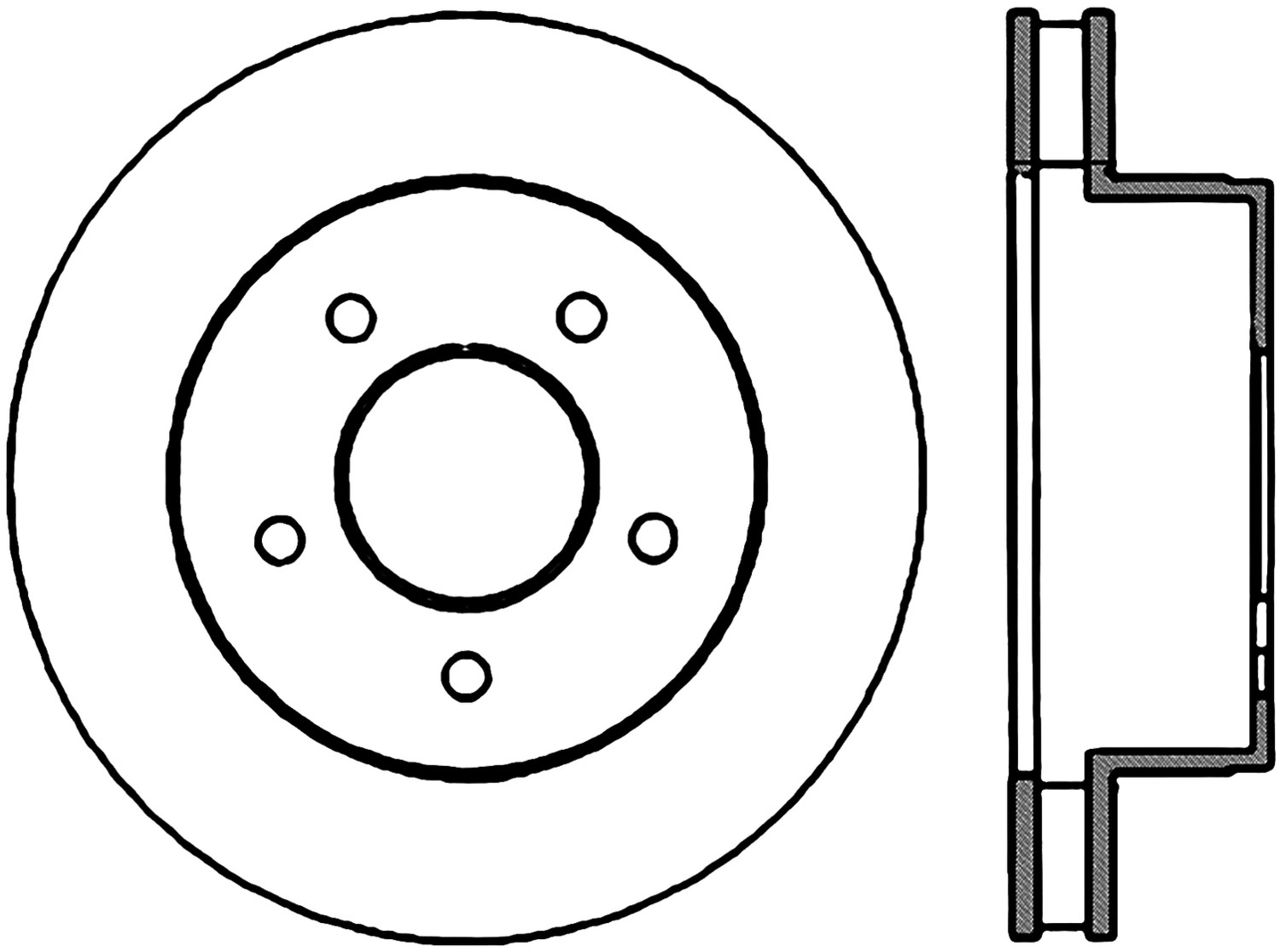 STOPTECH - StopTech Sport Drilled Disc (Front Right) - SOH 128.66022R
