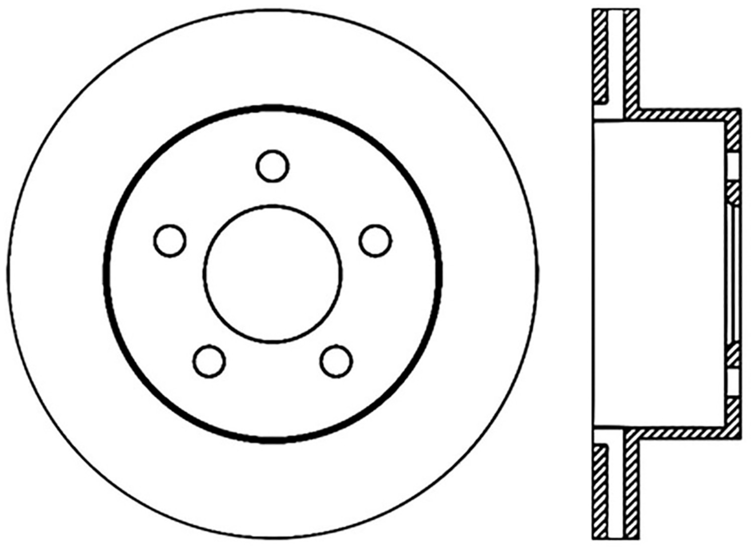STOPTECH - StopTech Sport Drilled Disc (Front Right) - SOH 128.67045R