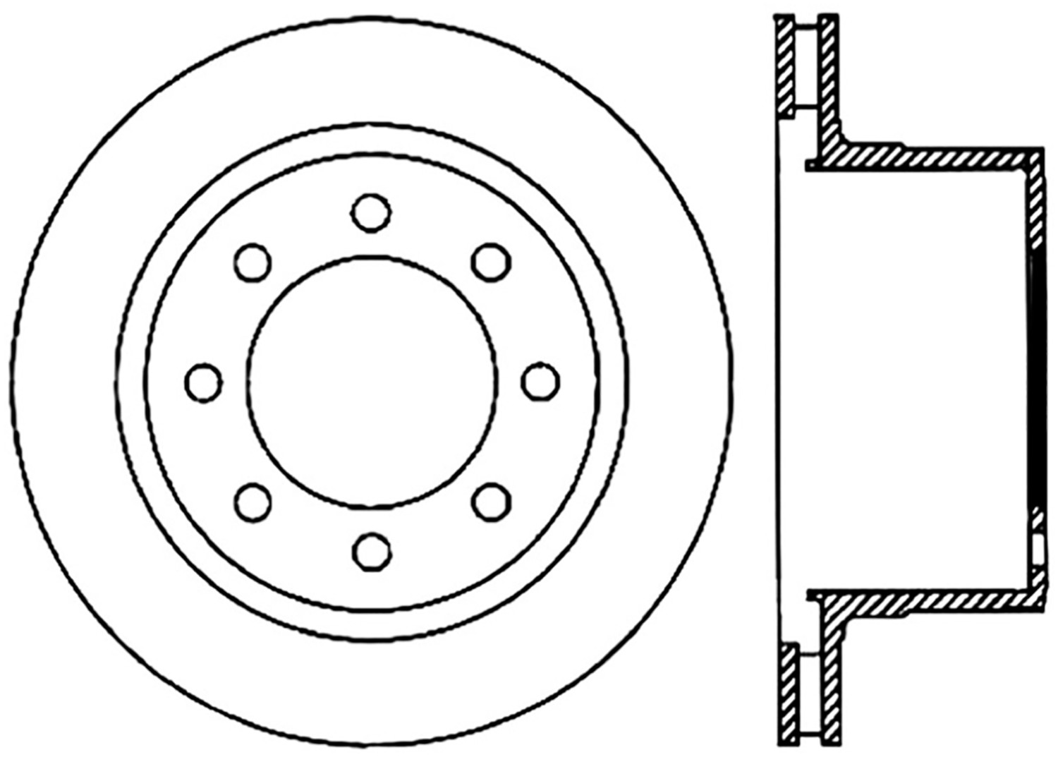 STOPTECH - StopTech Sport Cross-Drilled Disc Brake Rotors (Rear Left) - SOH 128.67062L