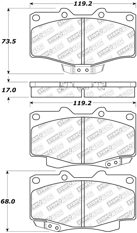 STOPTECH - Street Select Brake Pads - SOH 305.04360