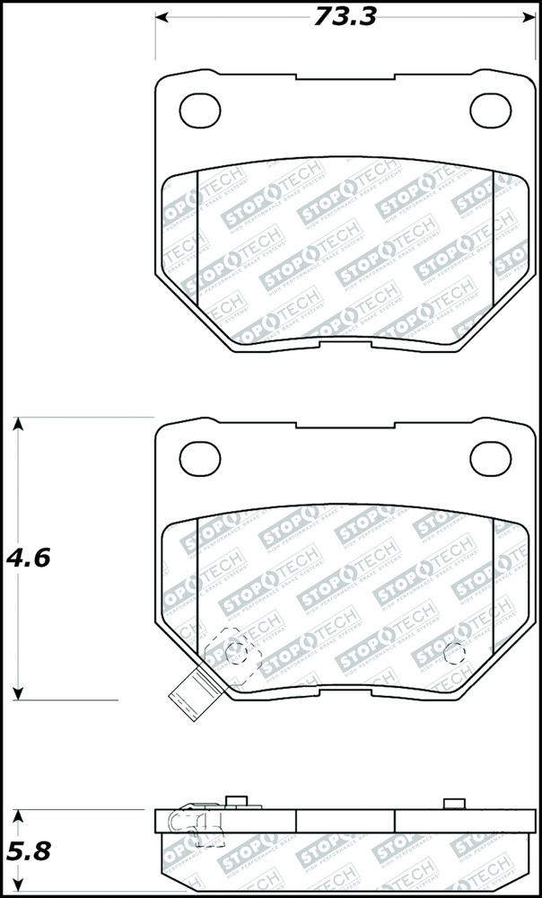 STOPTECH - Street Select Brake Pads - SOH 305.04611