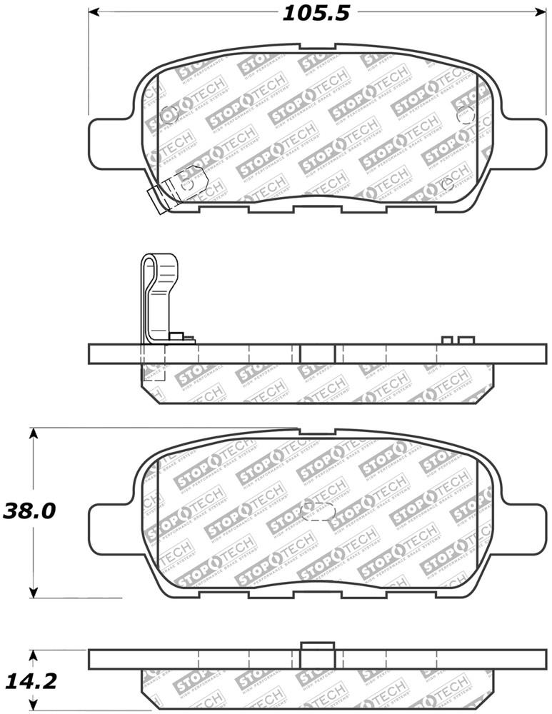 STOPTECH - Street Select Brake Pads - SOH 305.09052