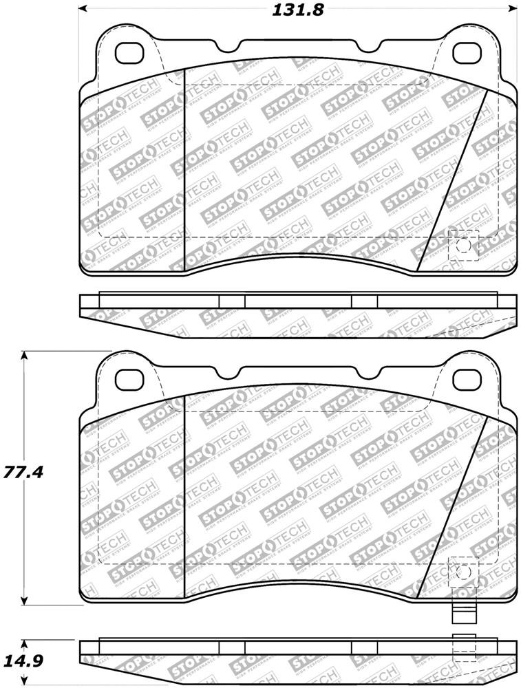 STOPTECH - Disc Brake Pad Set - SOH 305.10010