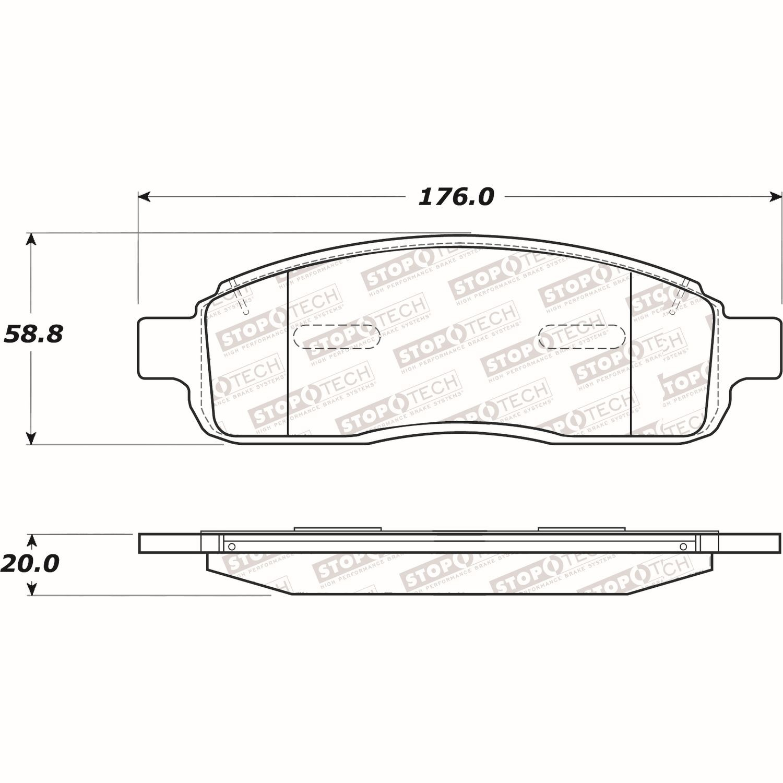 STOPTECH - Street Select Brake Pads - SOH 305.10110
