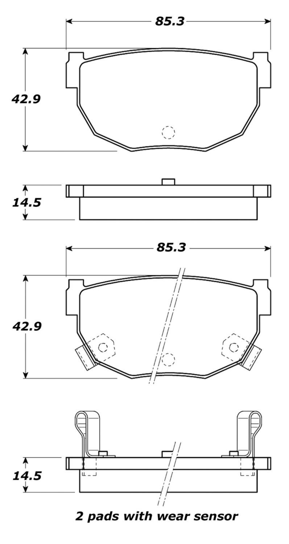 STOPTECH - StopTech Street Brake Pads (Rear) - SOH 308.02720