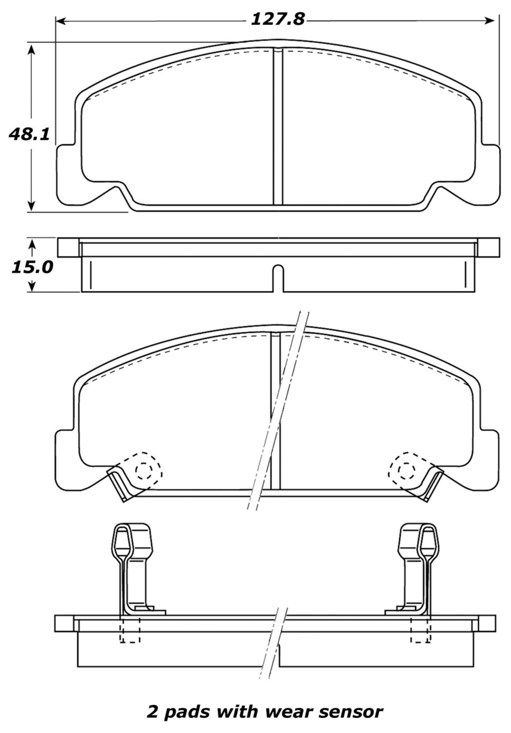 STOPTECH - StopTech Street Brake Pads (Front) - SOH 308.02730