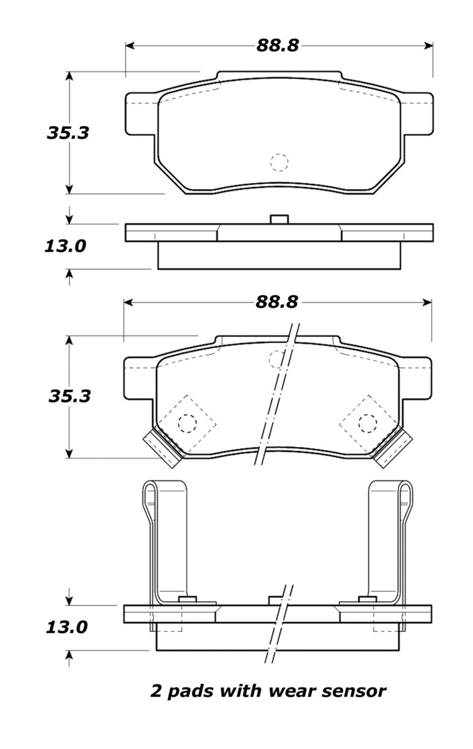 STOPTECH - StopTech Street Brake Pads (Rear) - SOH 308.03740