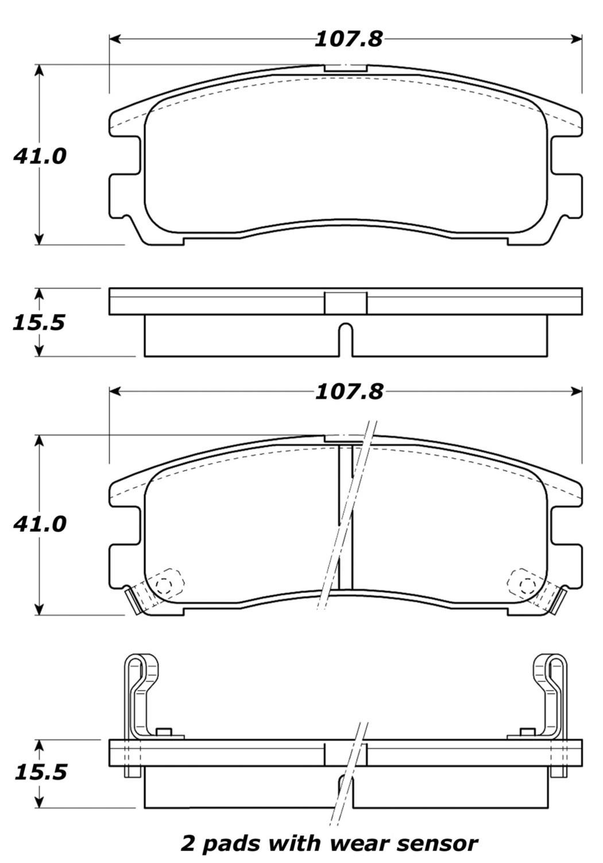 STOPTECH - StopTech Street Disc Brake Pad Sets (Rear) - SOH 308.03830