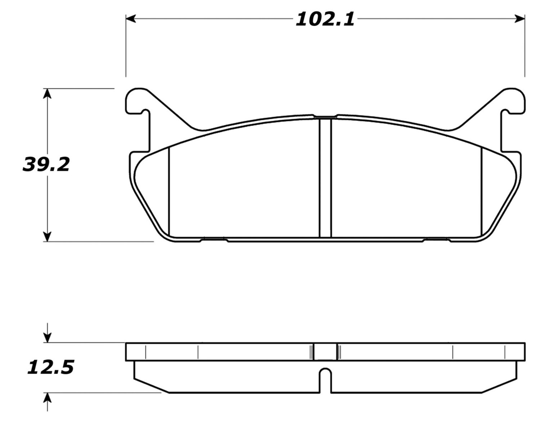 STOPTECH - StopTech Street Brake Pads (Rear) - SOH 308.04580