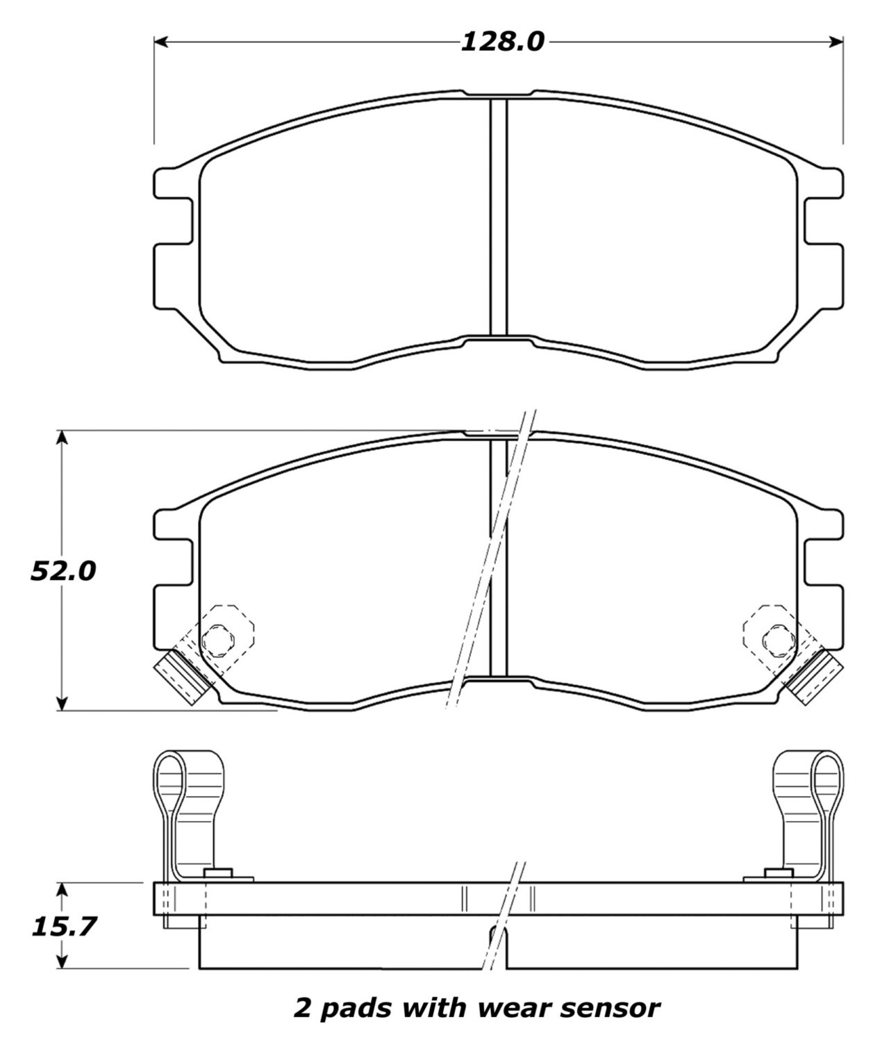 STOPTECH - StopTech Street Disc Brake Pad Sets (Front) - SOH 308.04840
