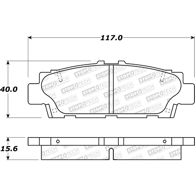 STOPTECH - StopTech Street Disc Brake Pad Sets (Rear) - SOH 308.04880