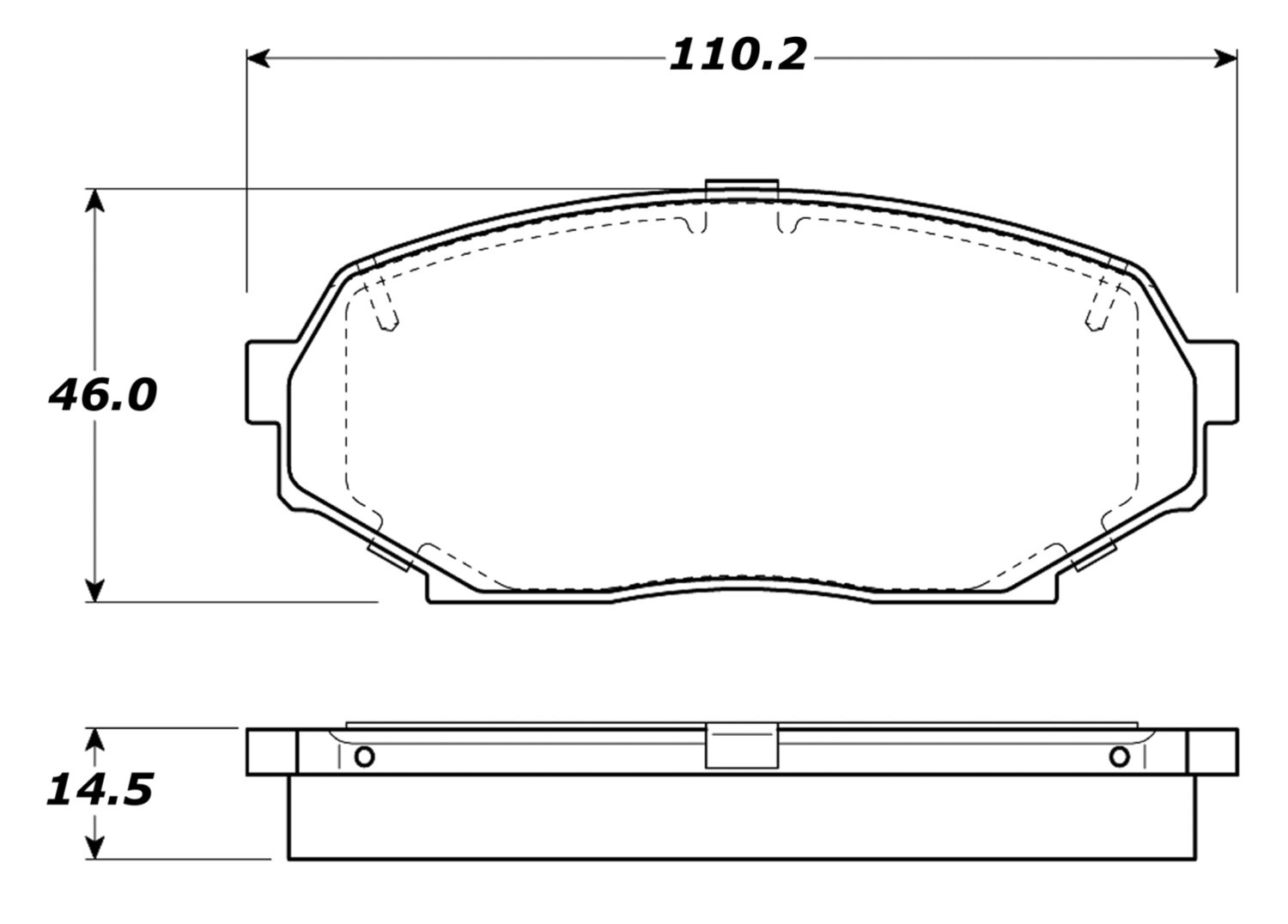 STOPTECH - StopTech Street Brake Pads (Front) - SOH 308.05250