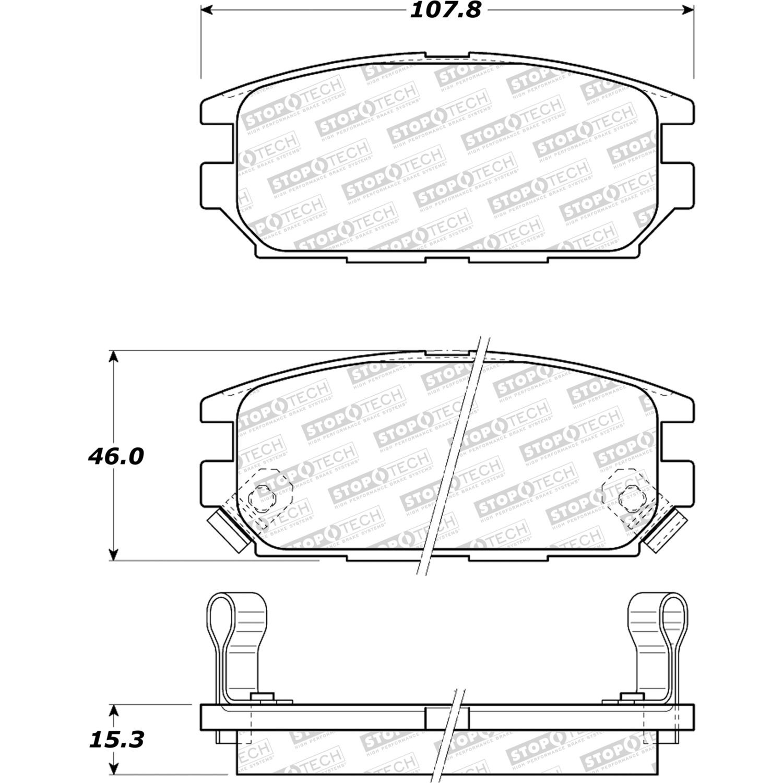 STOPTECH - StopTech Street Disc Brake Pad Sets (Rear) - SOH 308.05320
