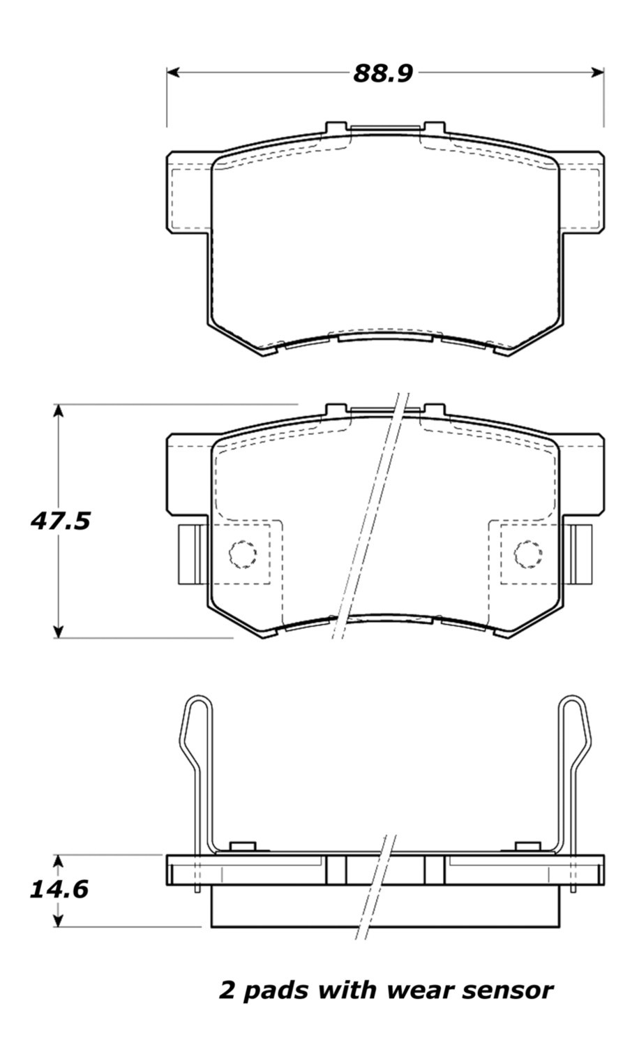 STOPTECH - StopTech Street Brake Pads (Rear) - SOH 308.05360