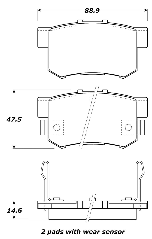 STOPTECH - StopTech Street Brake Pads (Rear) - SOH 308.05370