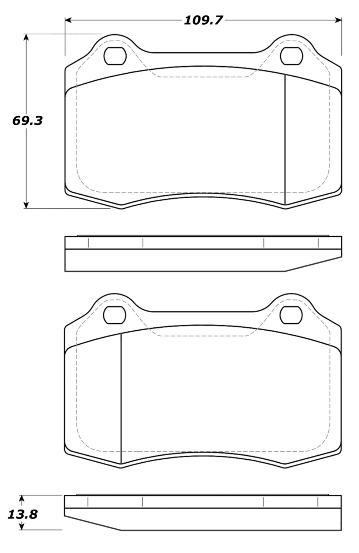 STOPTECH - StopTech Street Brake Pads - SOH 308.05921