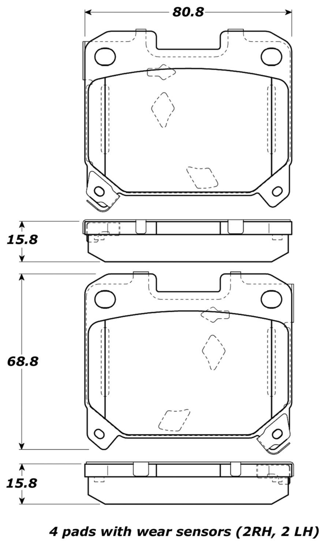 STOPTECH - StopTech Street Brake Pads (Rear) - SOH 308.06300