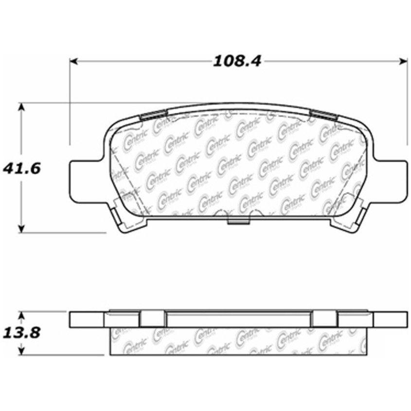 STOPTECH - StopTech Street Brake Pads (Rear) - SOH 308.07701