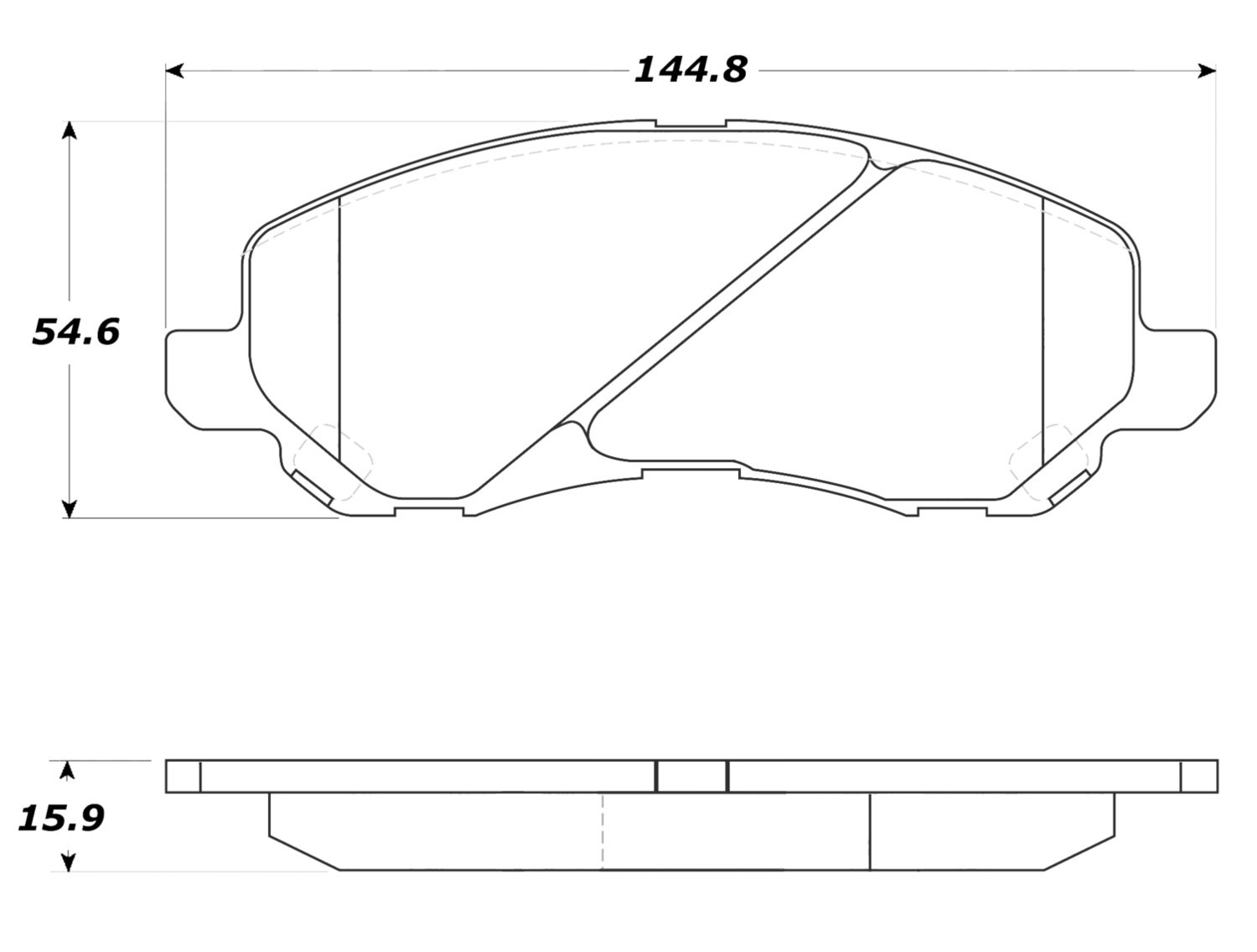 STOPTECH - StopTech Street Disc Brake Pad Sets (Front) - SOH 308.08660