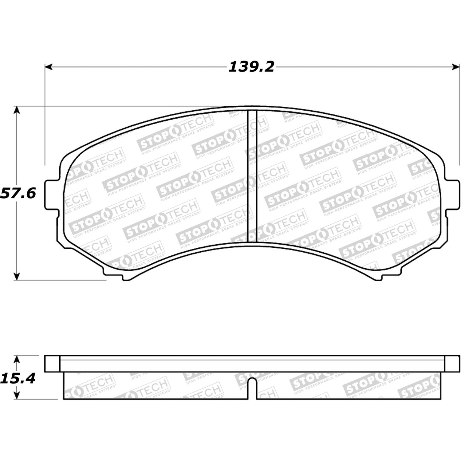 STOPTECH - StopTech Street Disc Brake Pad Sets (Front) - SOH 308.08670