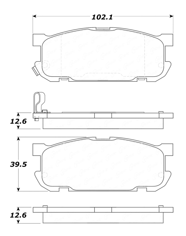 STOPTECH - StopTech Street Brake Pads (Rear) - SOH 308.08910