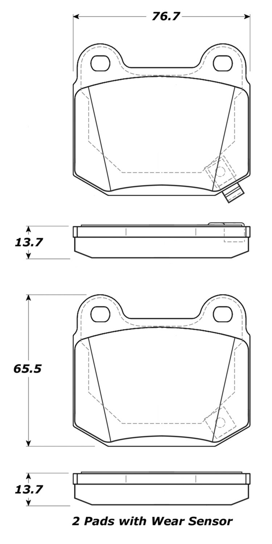 STOPTECH - StopTech Street Brake Pads (Rear) - SOH 308.09610