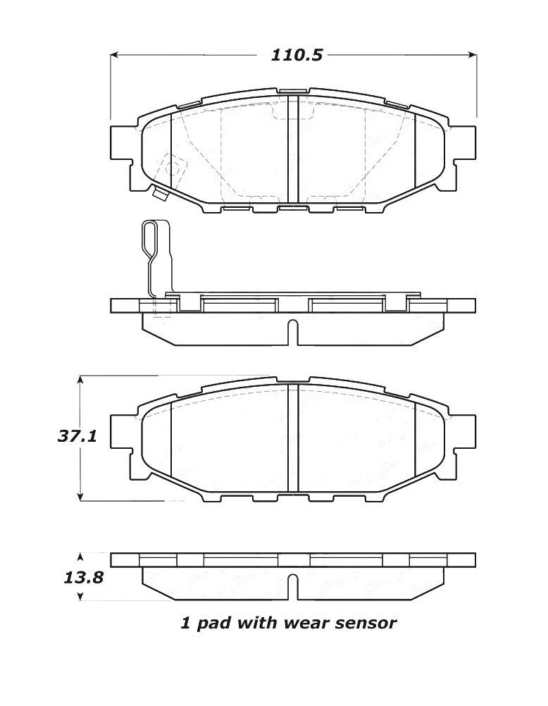 STOPTECH - StopTech Street Disc Brake Pad Sets (Rear) - SOH 308.11140