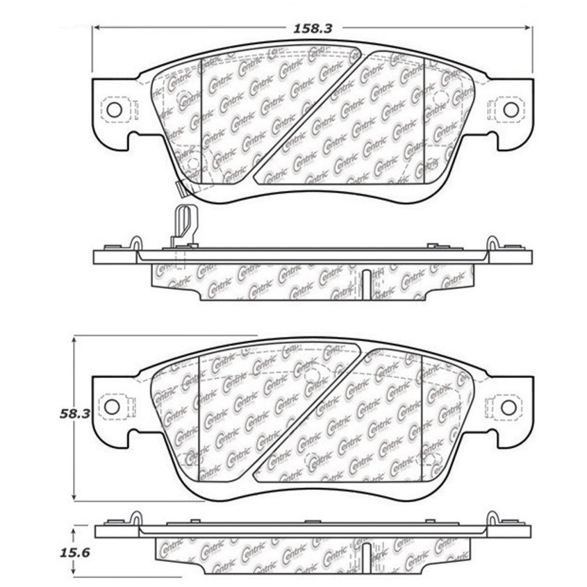 STOPTECH - StopTech Street Disc Brake Pad Sets (Front) - SOH 308.12870