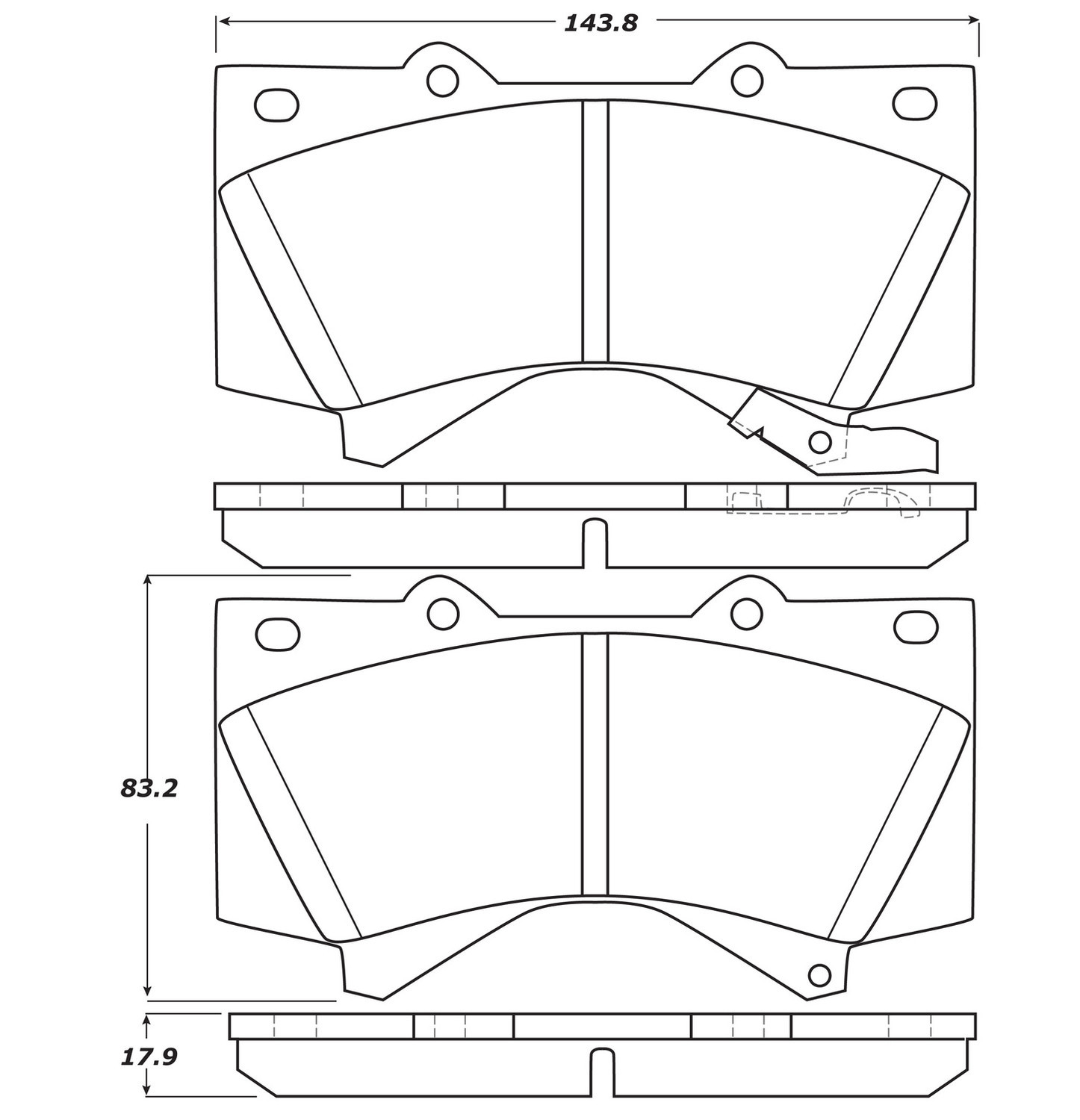 STOPTECH - StopTech Street Disc Brake Pad Sets (Front) - SOH 308.13030
