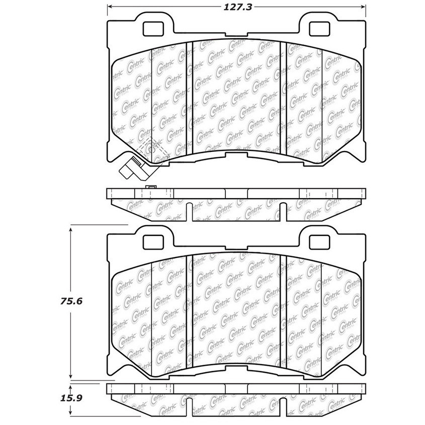 STOPTECH - StopTech Street Disc Brake Pad Sets (Front) - SOH 308.13460