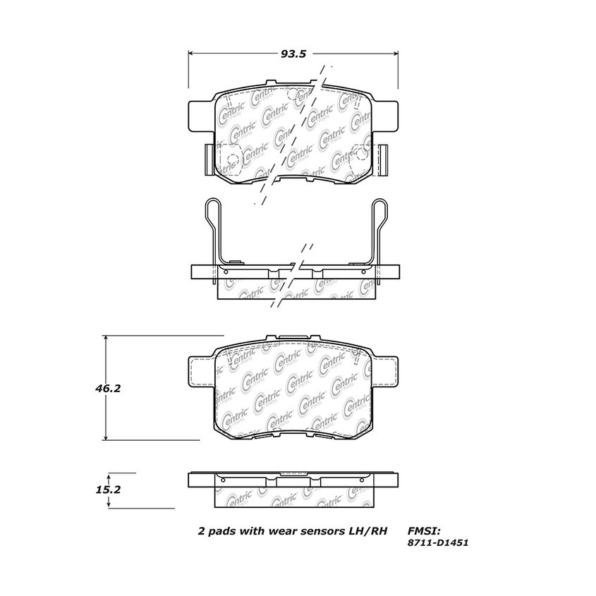 STOPTECH - StopTech Street Brake Pads - SOH 308.14510