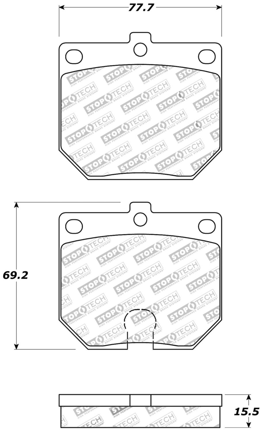 STOPTECH - StopTech Sport Brake Pads (Front) - SOH 309.01140