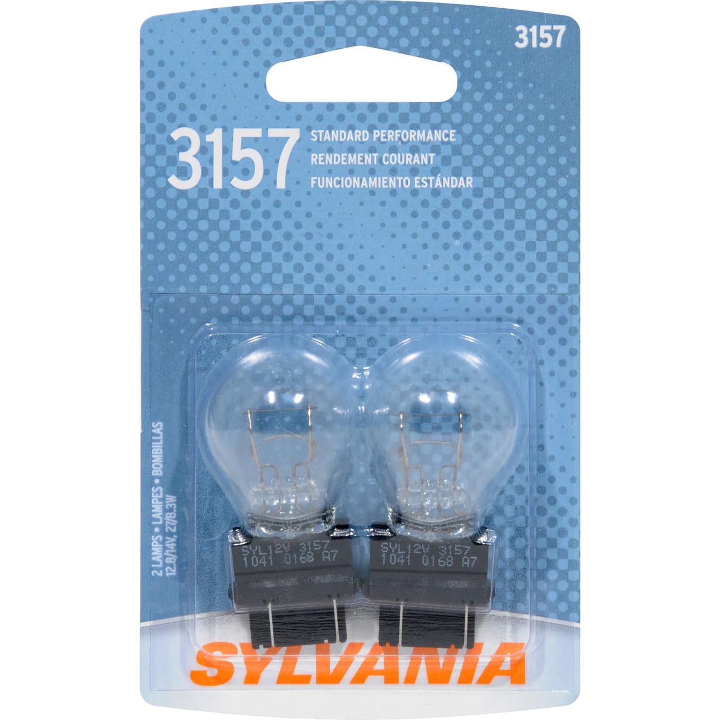 SYLVANIA RETAIL PACKS - Blister Pack Twin Center High Mount Stop Light Bulb - SYR 3157.BP2