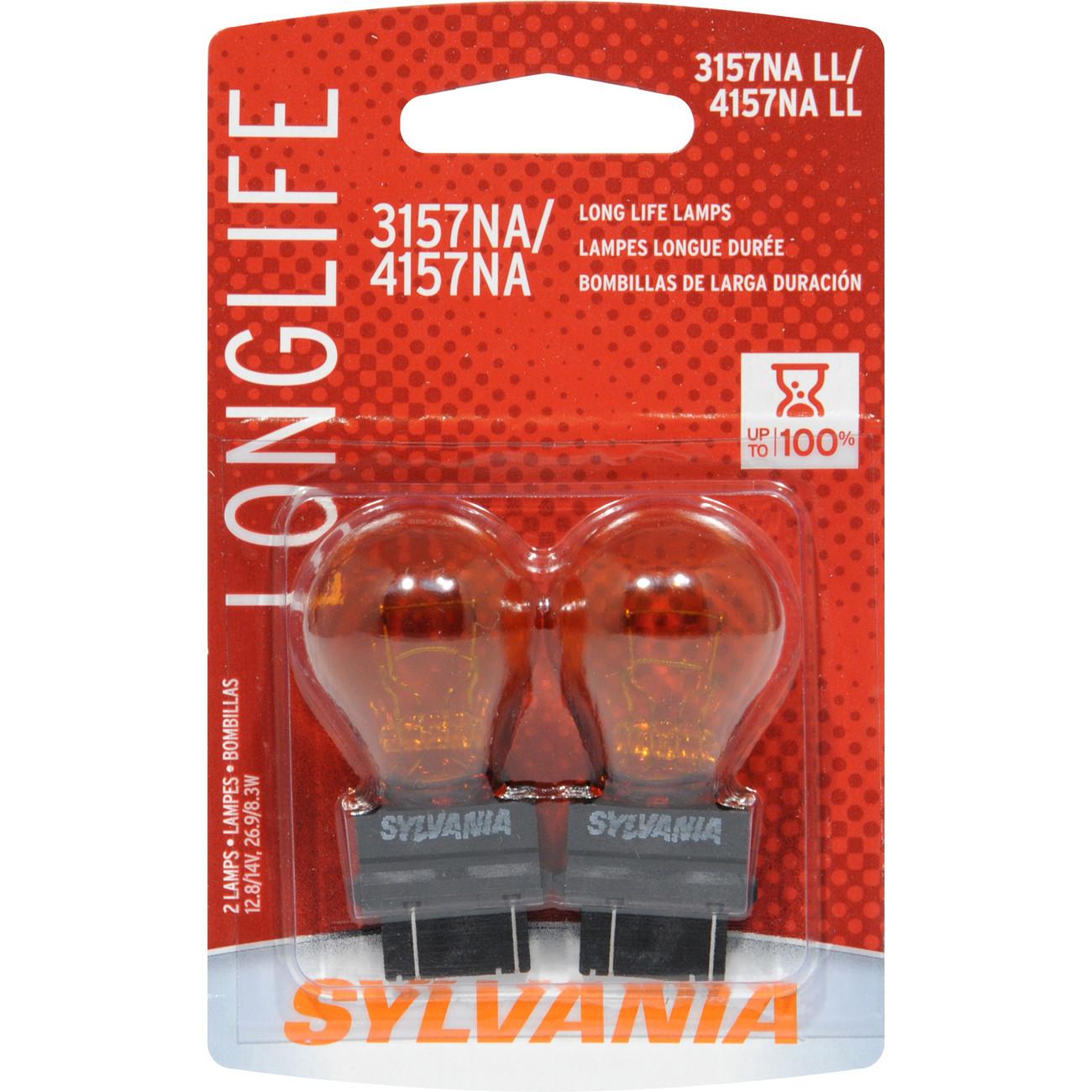 SYLVANIA RETAIL PACKS - Long Life Blister Pack Twin Daytime Running Light Bulb - SYR 4157NALL.BP2