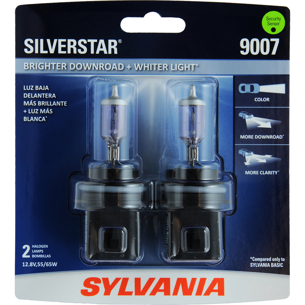 SYLVANIA RETAIL PACKS - SilverStar Blister Pack Twin Headlight Bulb - SYR 9007ST.BP2