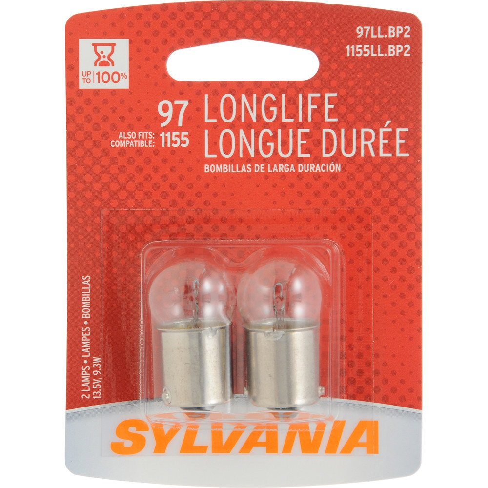 SYLVANIA RETAIL PACKS - Long Life Blister Pack Twin License Light Bulb - SYR 97LL.BP2