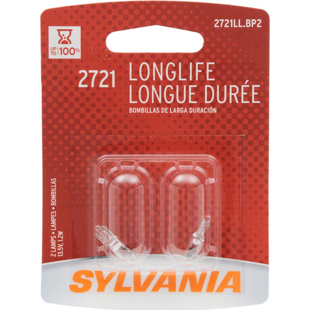 SYLVANIA RETAIL PACKS - Long Life Blister Pack Twin Auto Trans Indicator Light Bulb - SYR 2721LL.BP2