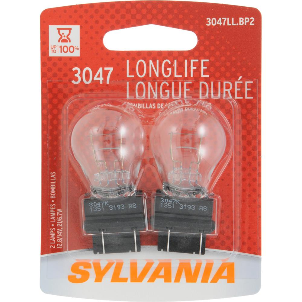 SYLVANIA RETAIL PACKS - Long Life Blister Pack Twin Tail Light Bulb - SYR 3047LL.BP2